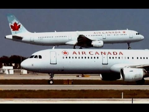 Air Canada Airbus A321 Takeoff from Ft. Lauderdale (RWY 9L)
