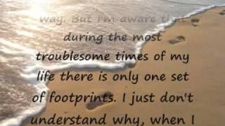 Footprints in the sand lyrics cristy lane