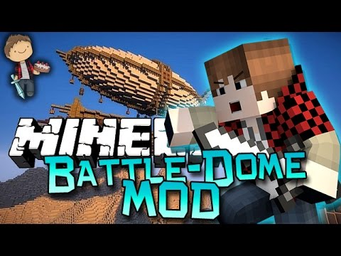 Minecraft: Modded Mini-Game! Battle-Dome w/Mitch & Friends! (Archimedes Ships and Hang Gliders Mod)