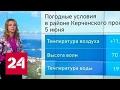 """""""Погода 24"""": в Керченском проливе выловили мужчину в поясе из пластиковых бутылок"""