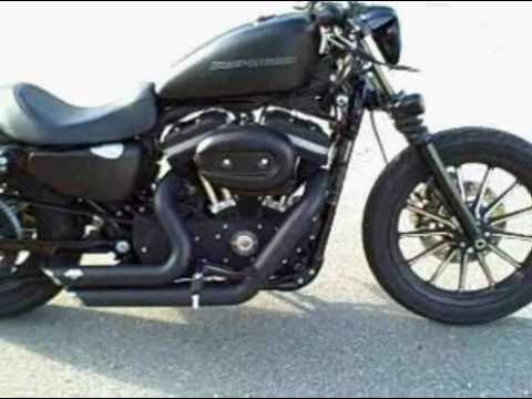 Iron 883 harley davidson blacked out w/ vance and hines Video