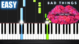 Download Lagu Machine Gun Kelly, Camila Cabello - Bad Things - EASY Piano Tutorial by PlutaX Gratis STAFABAND