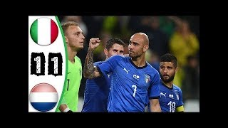 ITALIA 1-1 HOLANDA - RESUMEN GOLES - AMISTOSO INTERNACIONAL