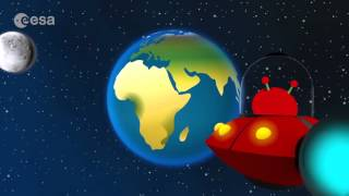 Cartoon Animation ESA Video for Children - The Solar System