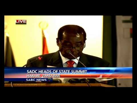 Robert Mugabe opening remarks at SADC Summit