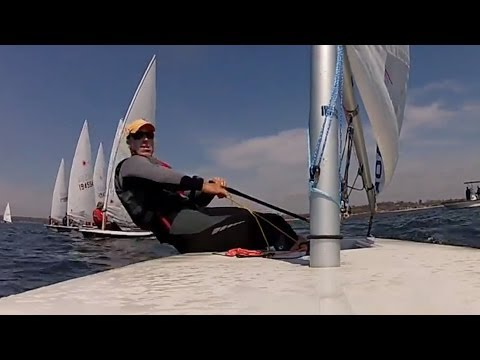 Laser Sailing - Racing Ride Along with Andrew Scrivan - GoPro[HD]