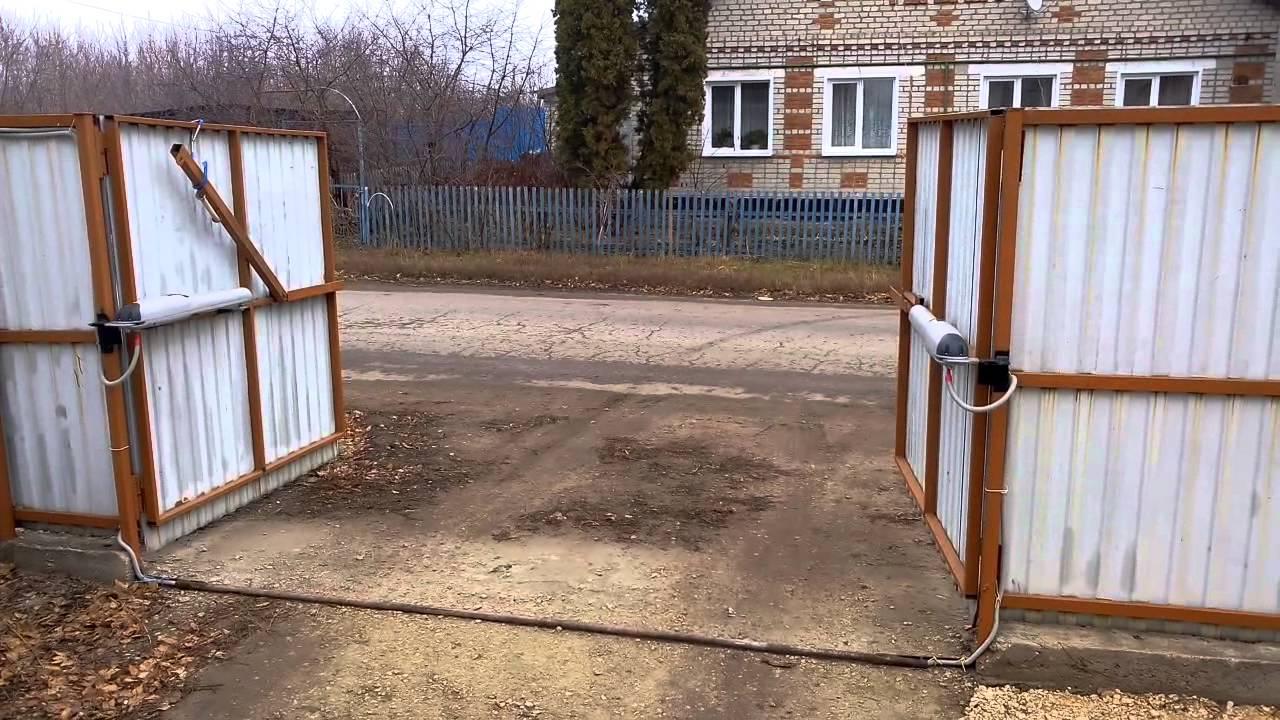 Распашных ворот калитки и ворота сказырьками