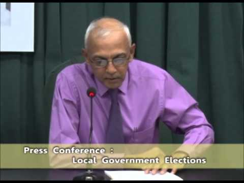 Local Government Elections Press Conference