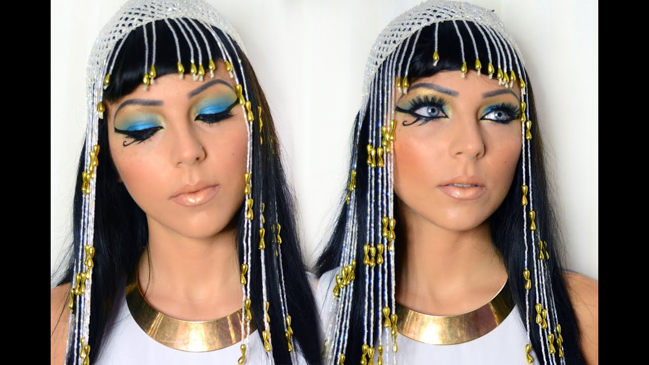 cleopatra of egypt halloween makeup youtube. Black Bedroom Furniture Sets. Home Design Ideas