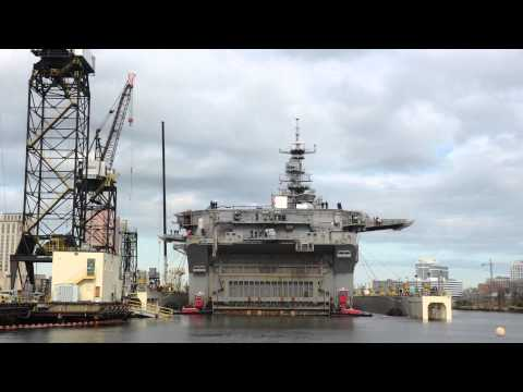 USS Bataan Moves to Dry Dock