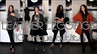 HOW TO STYLE FAUX LEATHER LEGGINGS | thrift inspirations | Antonella Lee
