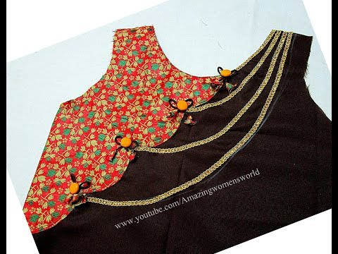 Elegant Ethnic Kurti | Churidar Designing - Cutting & Stitching -  Step by Step Easy way