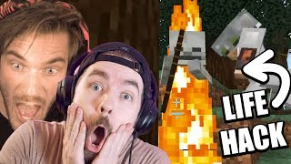 This Life Hack In Minecraft Is EPIC (Secret) w/ Pewdiepie