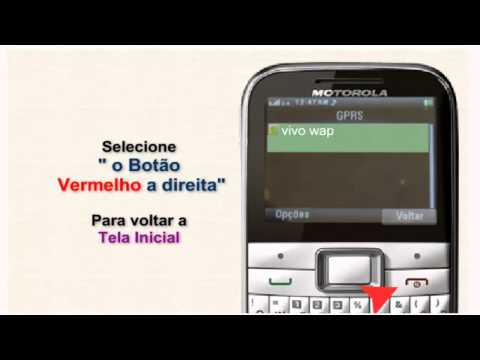Motorola Ex 109 configuração  vivo internet