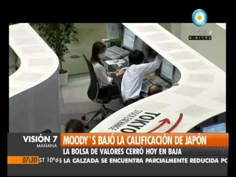 Visión Siete: Moody`s bajó la calificación de Japón