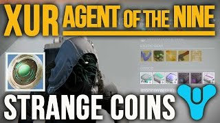 Destiny: What are Strange Coins used for | XuR Agent of the Nine Strange Coin Vendor