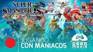 🔴 Super Smash Bros Ultimate - Jugando con maniacos en directo