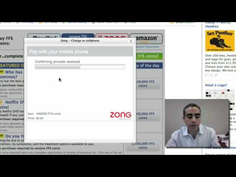 Zong mobile payment demo on a Facebook app