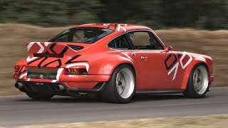 NEW Porsche 911 Singer DLS 4.0 NA Flat Six 9000rpm by Williams F1 INCREDIBLE Sound @ Goodwood FOS!