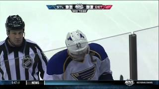 David Backes illegal hit to head match penalty 1 Feb 2013 St. Louis Blues vs Detroit Red Wings