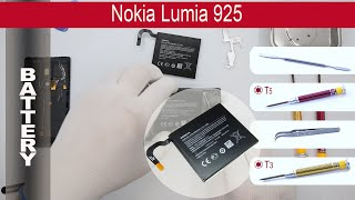 How to replace 🔧  🔋 📱 Battery Nokia Lumia 925 (rm-892, rm-893,rm-910)