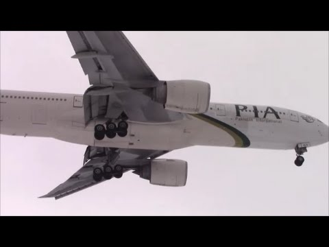 Pakistan International Airlines 777-200 [AP-BGY] landing in Toronto on RWY 24R