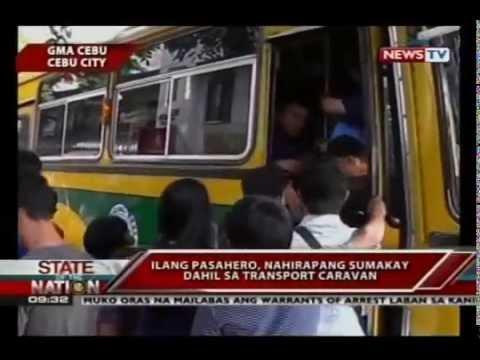 Mga transport group na lumahok sa transport caravan, nagtipon sa tanggapan ng LTFRB at DOTC