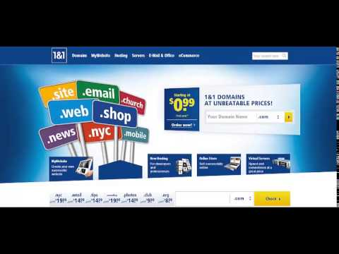 1&1 Hosting A Website Cheapest Web Hosting