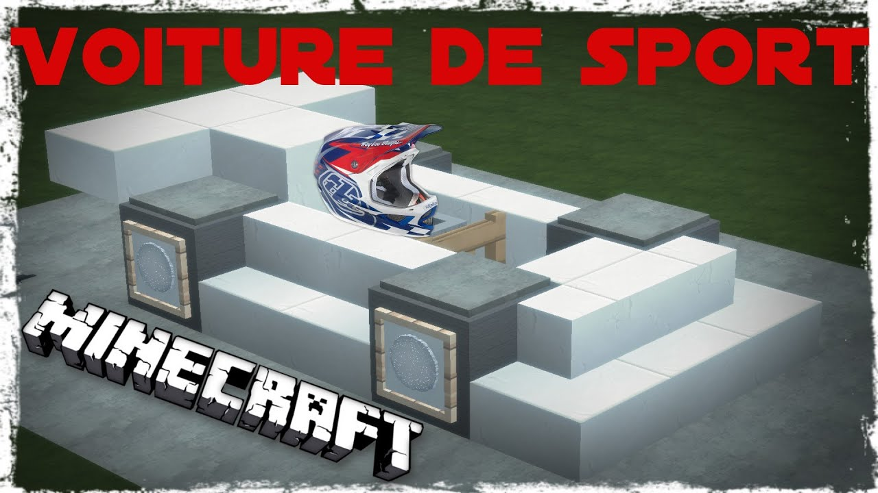 tutoriel v hicule minecraft voiture de sport youtube. Black Bedroom Furniture Sets. Home Design Ideas