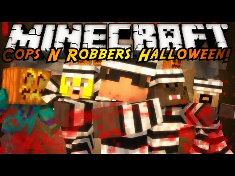 Minecraft Mod Mini-Game : COPS N ROBBERS! HALLOWEEN MOD!