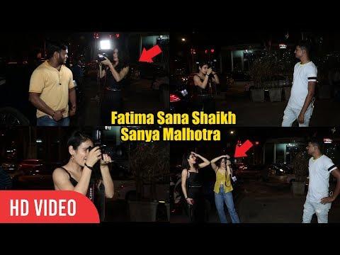 Fatima Sana Shaikh and Sanya Malhotra Became Paparazzi Photographer Clicking Normal People thumbnail