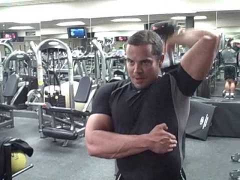 Tricep Workout With Dumbells Image 1