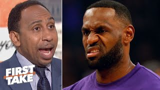 LeBron didn't lose the crown to Kawhi, he got hurt! – Stephen A. | First Take