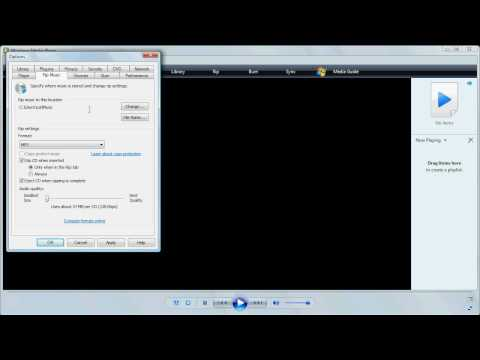 Ripping to MP3 Using Media Player