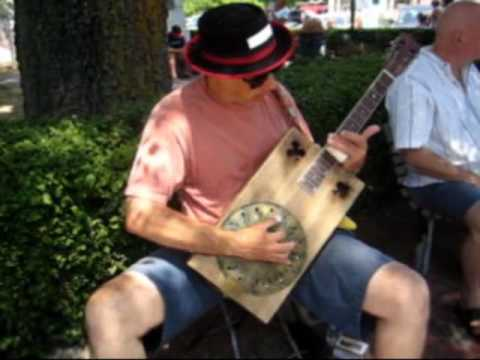Elmore James Shake Your Money Maker Cigar Box Guitar Busking Blues