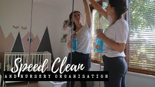 SPEED CLEAN AND NURSERY ORGANISATION | CLEANING MOTIVATION | MRS HINCH INSPIRED
