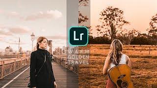 How to Edit WARM GOLDEN TONE - Lightroom Mobile Tutorial