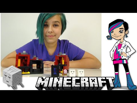 LEGO Minecraft - Micro World The Nether with Ghast and Zombie Pigman Mobs