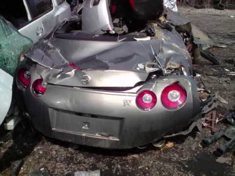 Photos Nissan  on 09 Nissan Gtr R35 Skyline Crash Totaled Death Of A Gtr