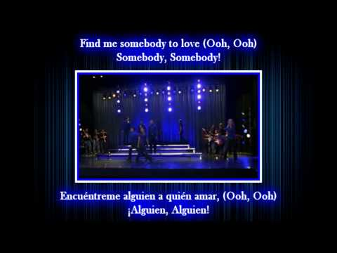 Glee - Somebody to love / Sub spanish with lyrics