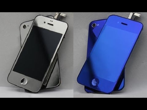 iPhone 4S Color Conversion Blue & Chrome iPhone 4S Display Tuning chrome DIY Screen replacement