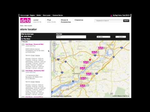 How to Use the Deb Shops Store Locator