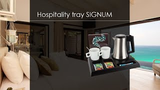 B-TRAY SIGNUM | Hospitality tray | Welcome tray | Coffee and tea facility for hotels