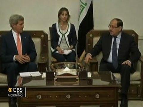 Secretary of State John Kerry makes surprise visit to Iraq