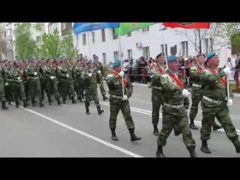 День Победы 9 мая г. Самара 2015 г. Проход групп военных.
