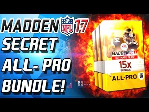 SECRET ALL-PRO PACK BUNDLE! NEW LEGEND!- Madden 17 Ultimate Team