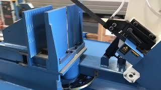 SM-HBS620SAM. Steelmaster Semi Auto Mitre Bandsaw. 620mm x 440mm, Mitre to 60 Degrees,