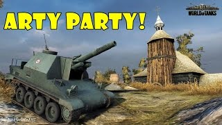 World of Tanks - Funny Moments   ARTY PARTY! #20