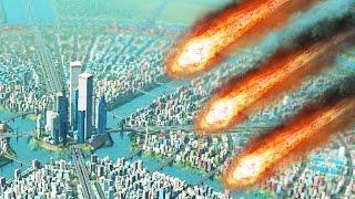 METEORS vs HUGE CITY! (Cities Skylines Natural Disasters)
