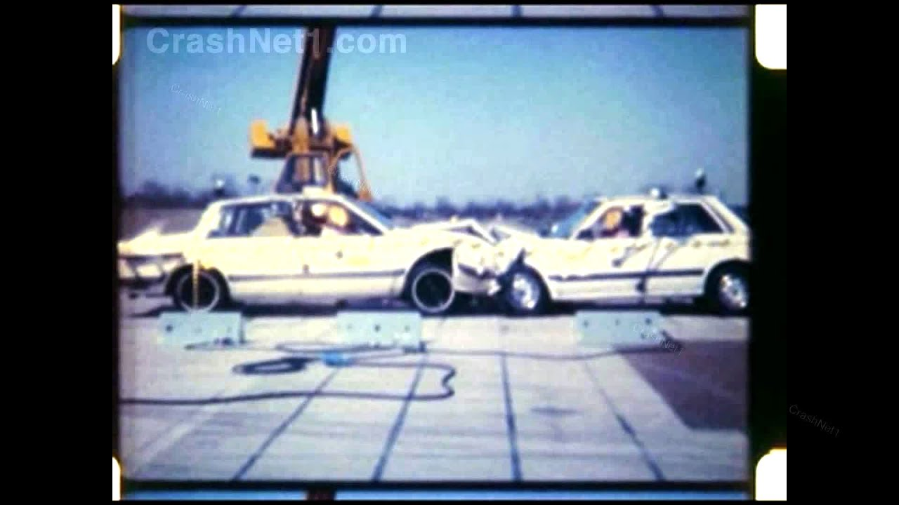 1984 Honda Accord vs Chevy Celebrity | Head-on Crash Test ...